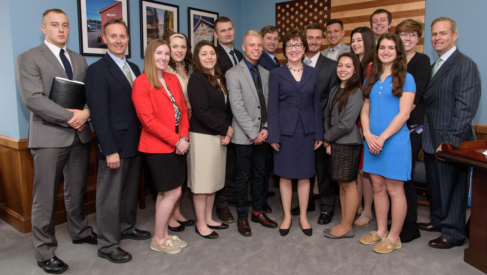 featured image for Sen. Collins welcomes UMaine students to nation's capital