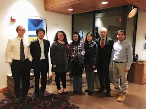 Author Suki Kim (center) meeting SPIA graduate students. Credit: Majd Zeidan
